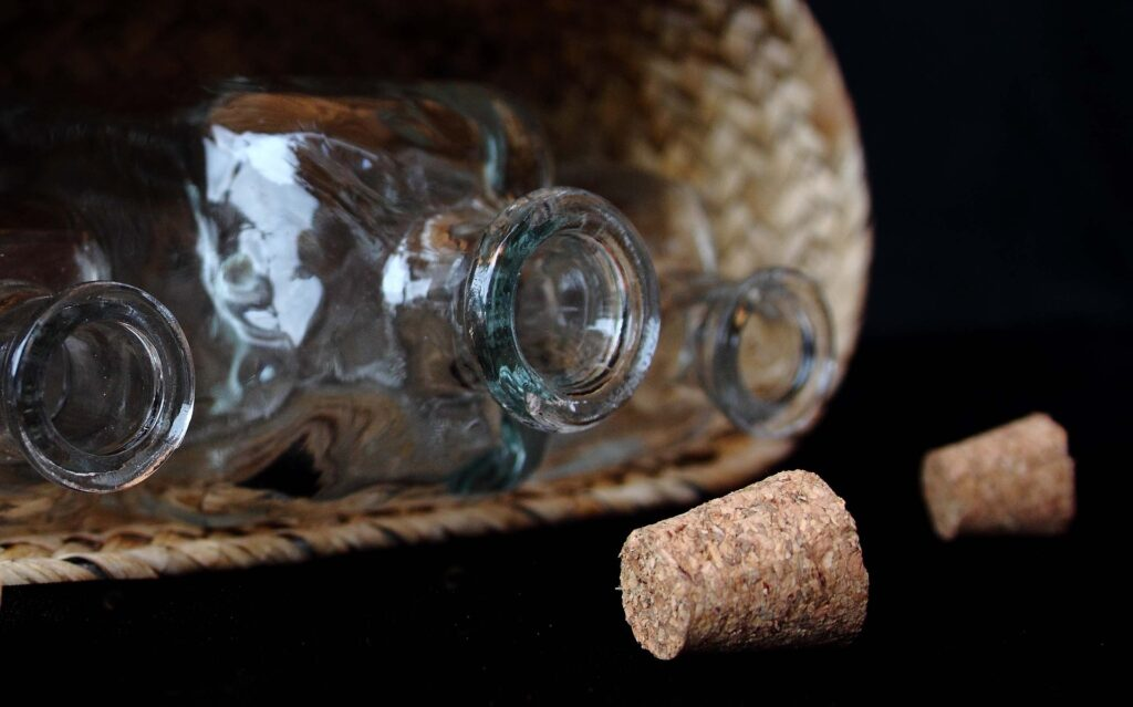 bouteille débouchée